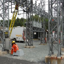 Electrical power transformation substations